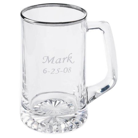 Personalized 25 oz. Silver Rimmed Sports Mug