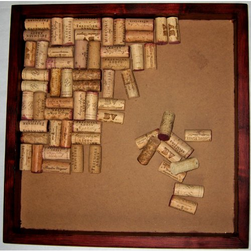 16x16 Wine Cork Bulletin Board