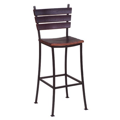 2 Day Designs Stave Back Bar Stool 24 Inch