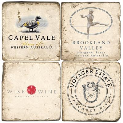 Australian Wine Marble Drink Coasters, II