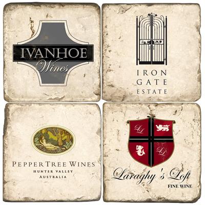 Australia Wine Marble Drink Coasters