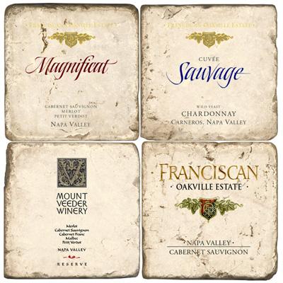 Napa Valley Wine Marble Drink Coasters