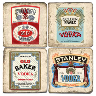 Vodka Marble Coasters
