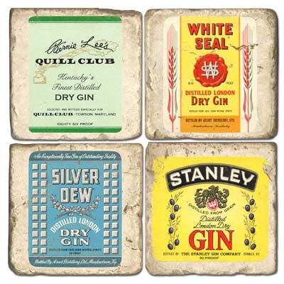 Dry Gin Marble Coasters