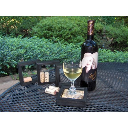 Wine Cork Drink Coasters (set of 4) Black