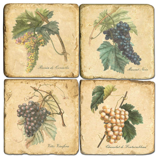 Grapes Marble Coasters