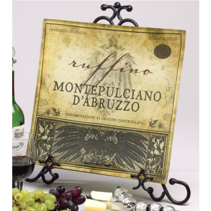 Tuscan Wine Artisan Glass Square Plate