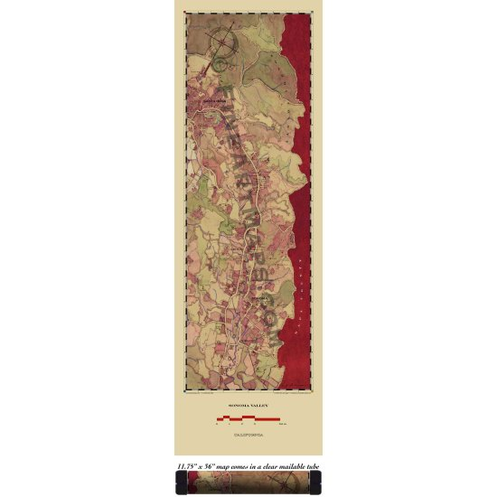 Sonoma Valley Wine Country Map