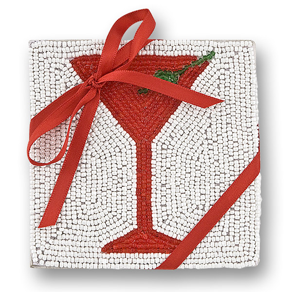 St. Nick's Martini Beaded Coasters