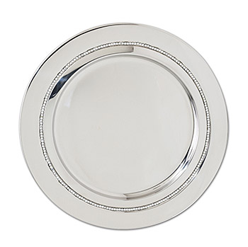 Bejeweled Chrome Serving Tray with Rhinestones