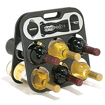 Metrokane The Wine Bar - Wine Rack Gift Set