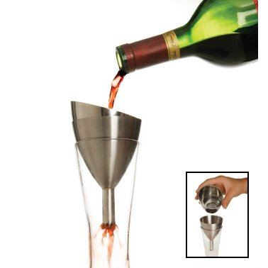 Rabbit Wine Shower Decanting Funnel with Strainer