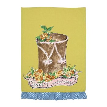 Happy Anniversary Kitchen Towel By Julia Junkin