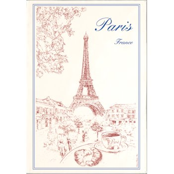 Torchon Paris France Kitchen Towel