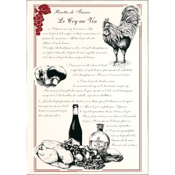 Le Coq au Vin French Wine Towel