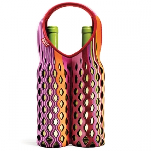 Built NY Fishnet Wine Tote Two Bottle, Black