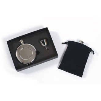 Round Pocket Flask Set