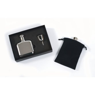 Squire's Flask Set Stainless Steel 4.5 oz