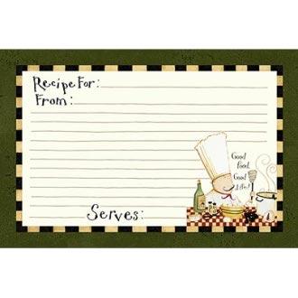 Good Food Good Wine Recipe Card Set