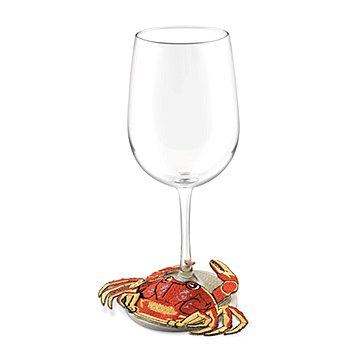 Crab Stemware Slipper Coasters (set of 4)
