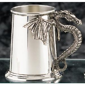 Pewter Dragon Tankard