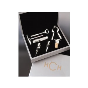 Silver Plated Wine Tools in Personalized Silver Case