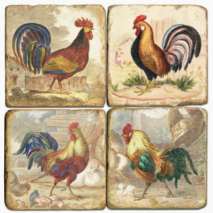 Roosters Drink Coasters