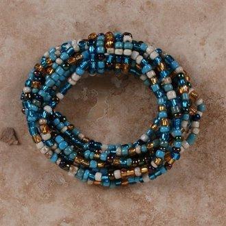 Knot Bracelet, Blue Gold