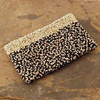 Pebble Clutch, Black and White