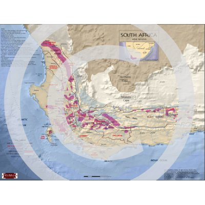 South Africa Wine Regions Map
