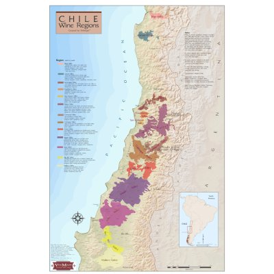 Wine Regions of Chile Wine Map