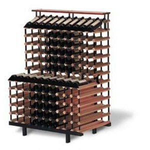 180 Bottle One Meter Tiered Wine Storage Display Rack