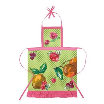Julia Junkin Fruits and Roses Apron