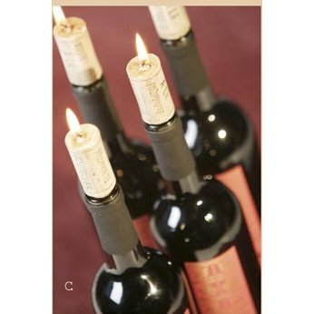 Wine Cork Candles, 44 sets of 4