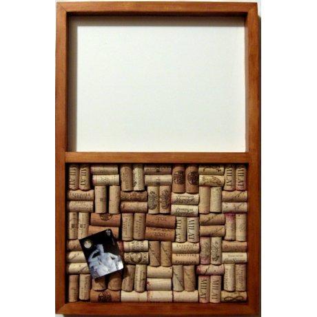 Message Center Wine Cork Bulletin Board, Maple