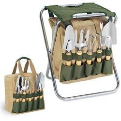 Gardener-Seat With 5Pc Garden Tool Kit