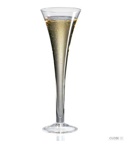 Classics Hollow Stem Crystal Champagne Flutes (Set of 4)
