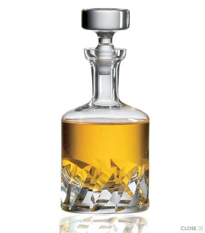 Beveled Blade Decanter