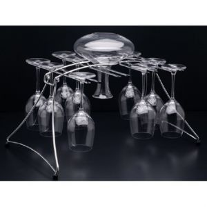 Fusion 16 Drying Decanter and Stemware Rack
