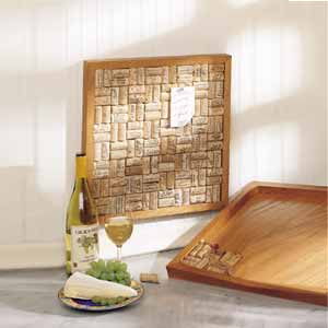 Large Wine Cork Bulletin Board - Oak