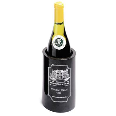 Personalized Black Marble Chateau Wine Cooler