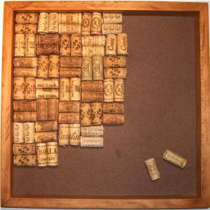 Large Wine Cork Bulletin Board - Pine