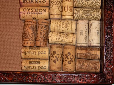 Scroll Cork Bulletin Board