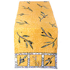 Julia Junkin Olive Table Runner