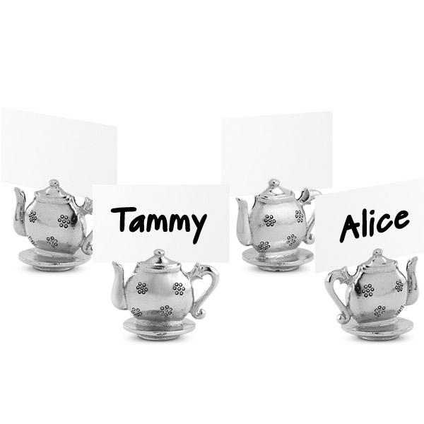 Teapot Place Card Holders (set of 4)