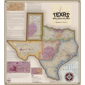 Texas Wine Country Map, Appellations & Wineries