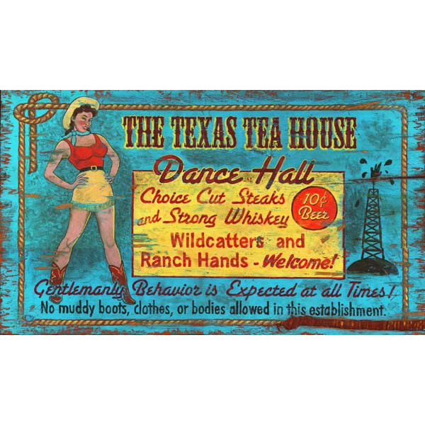Personalized Texas Dance Hall Vintage Sign