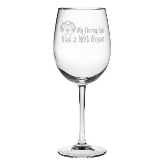 My Therapist Has A Wet Nose All Purpose Wine Glasses (set of 4)