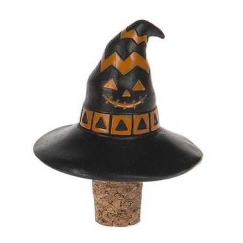 Black and Orange Pumpkin Witch Hat Stopper