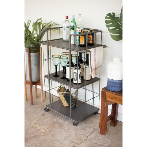 Rolling Three Tiered Serving Cart